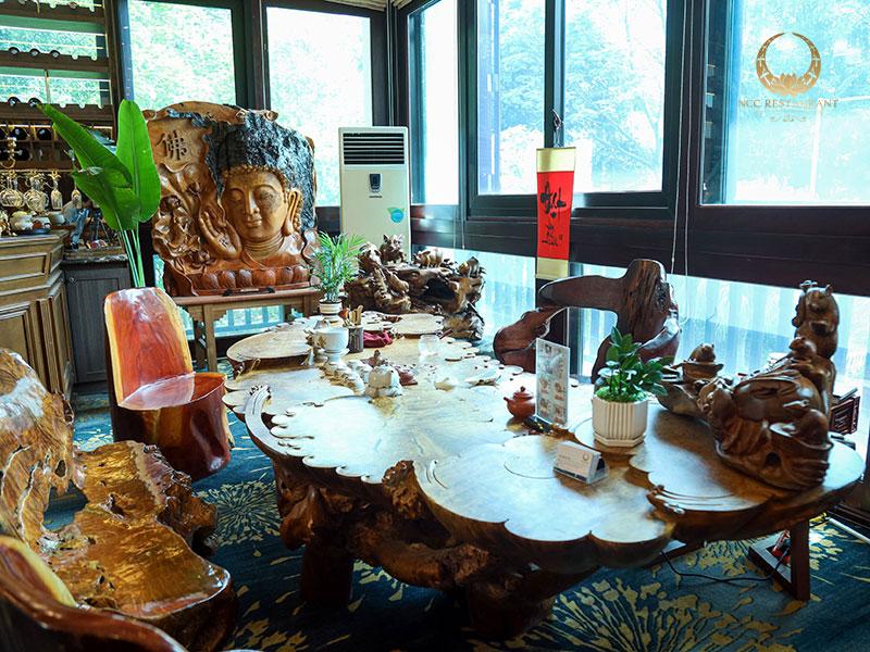 Một trong những không gian thưởng trà tại nhà hàng NCC